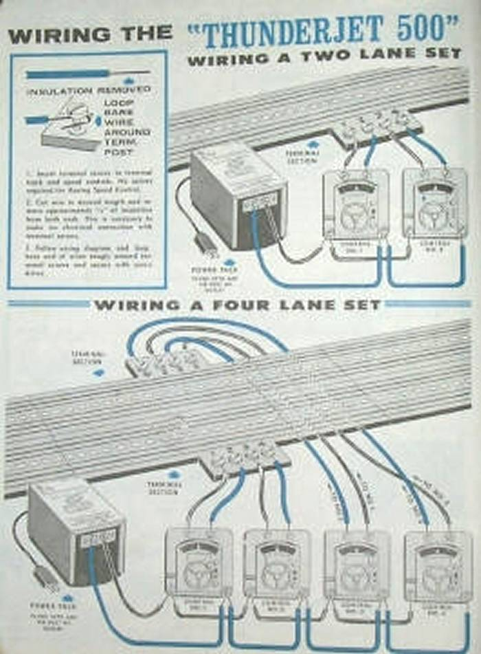 slot car wire diagram
